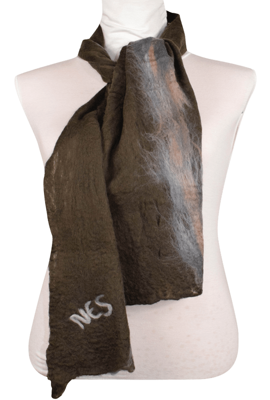 Sciarpa Unisex Lana Merinos - Bosco di pietra