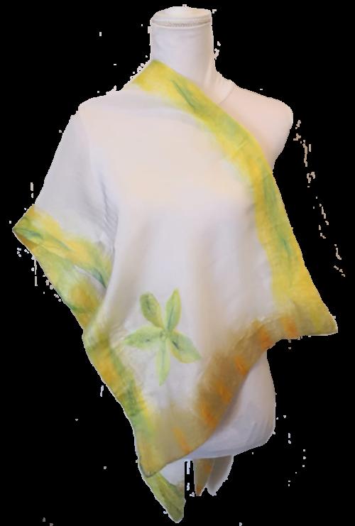 Stola Donna Satin in Seta - Primavera in Fiore • NES Wearing Energy