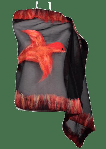 Fenicie dell'Etna Stola organza lana merinos • NES Wearing Energy
