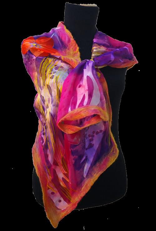 Sciarpa Chiffon di Seta stampata - Lothlórien