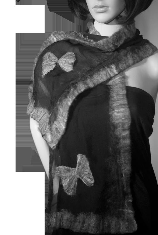 Sciarpa Chiffon Seta Lana Merino - Fox Trot