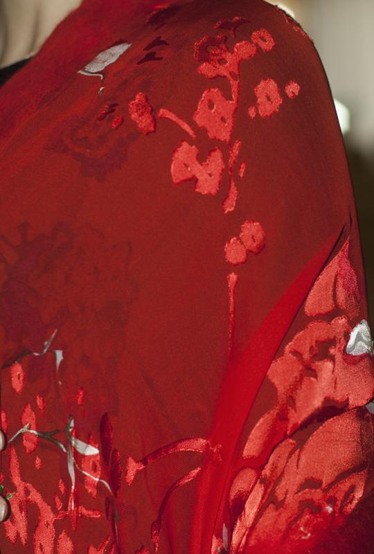 Sciarpa seta Cherry Tree