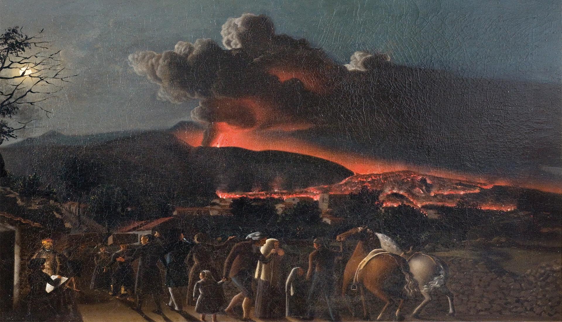 Eruzione dell'Etna 1852 • Giuseppe Sciuti