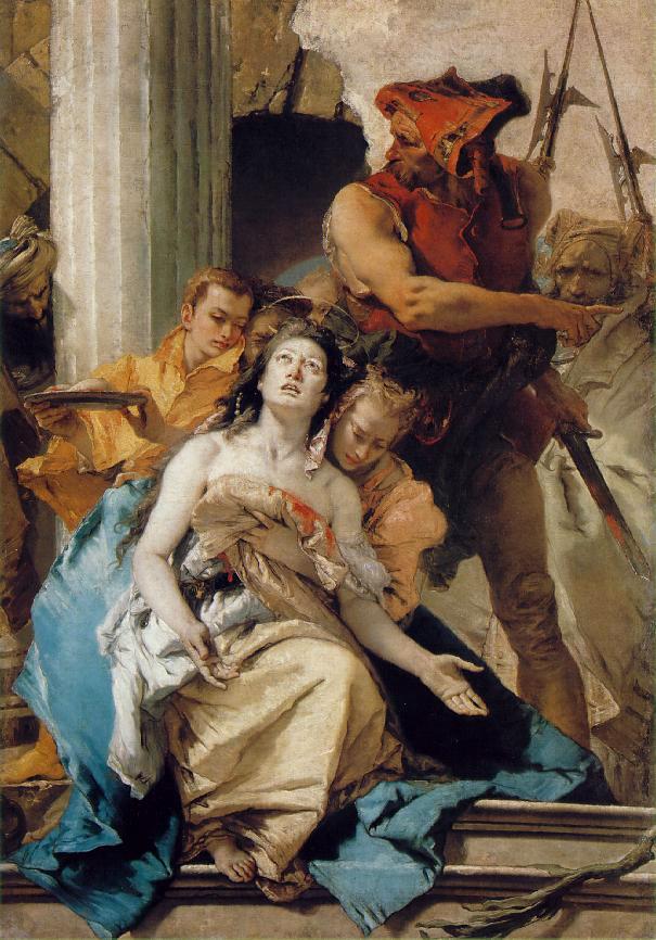 Il Martirio di Santa Agata • Gianbattista Tiepolo.