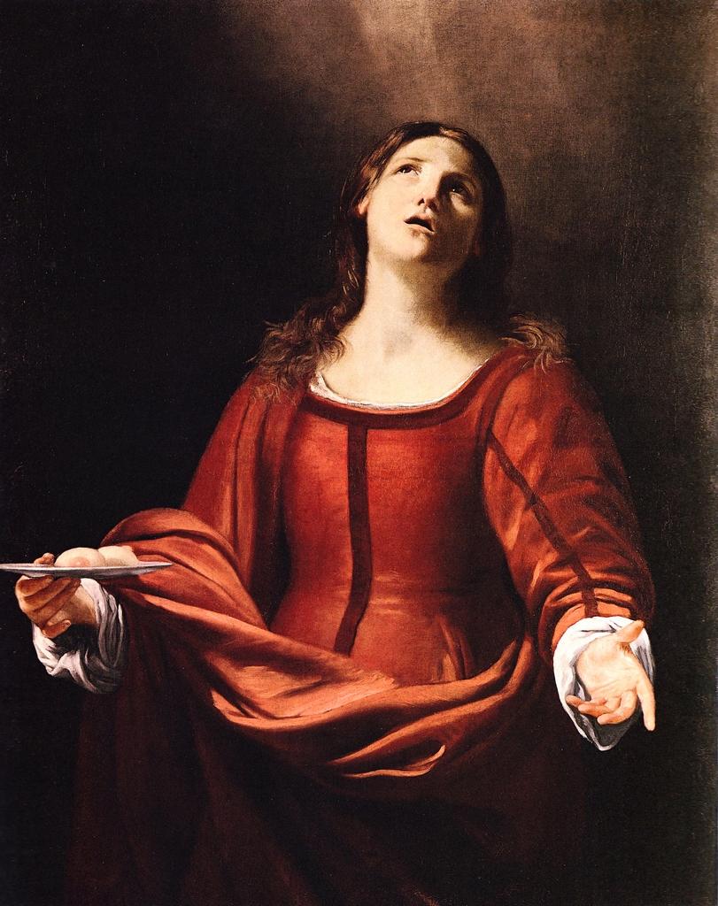 Sant'Agata, da un dipinto di Guido Cagnacci
