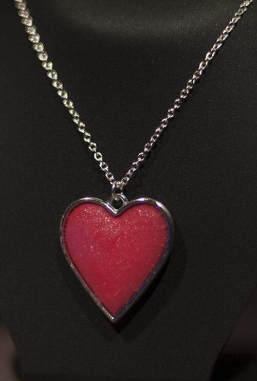 Pendente argilla resina rame argentato - Unchain my Hearth