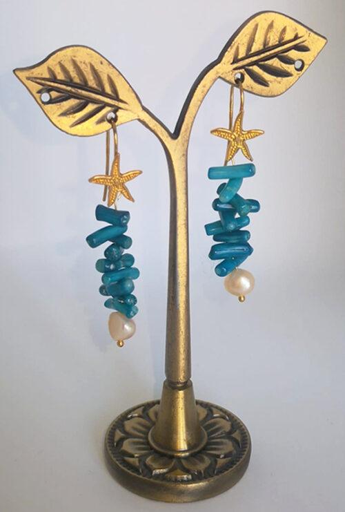 Orecchini Voglia di Mare in corallo e perle